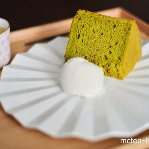 【烘烤】自家製『綠茶海綿蛋糕』