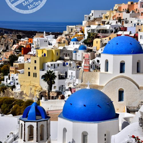 【希臘 聖托里尼】- 伊亞 | Oia 的經典藍頂教堂
