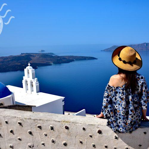 【希臘 聖托里尼】費拉 | Fira -尋找雜誌上的藍頂教堂