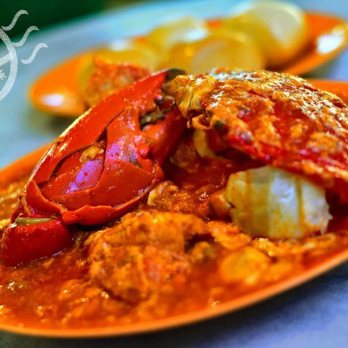 【新加坡】《老巴剎 | Lau Pa Sat》下集 – 《銘雁燒烤海鮮》辣椒螃蟹