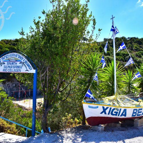 【希臘 扎金索斯島】私人包船行程-眺望《沉船灣》| 天然硫磺溫泉《Xigia Beach》