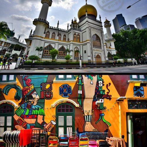 【新加坡】《蘇丹回教堂 | Masjid Sultan》&《哈芝巷 | Haji Lane》彩虹建築地道小巷