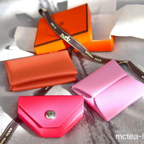 【買物】《Hermès》粉紅小物之卡包、零錢包