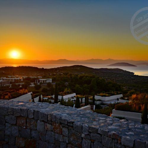 【希臘 伯羅奔尼撒半島】《Amanzoe》 日落與星夜