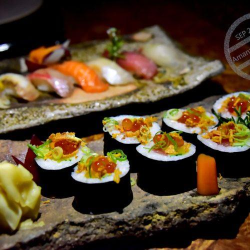 【希臘 伯羅奔尼撒半島】《Amanzoe》泳池畔的壽司晚餐