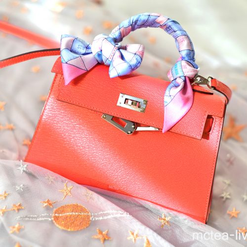 【買物】《Hermès》Kelly Mini II 粉色迷你包