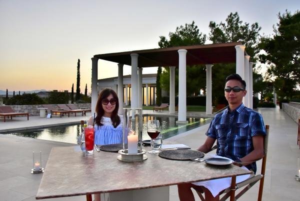 池畔私人晚餐