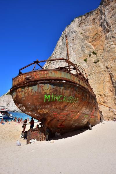 沙灘上的沉船