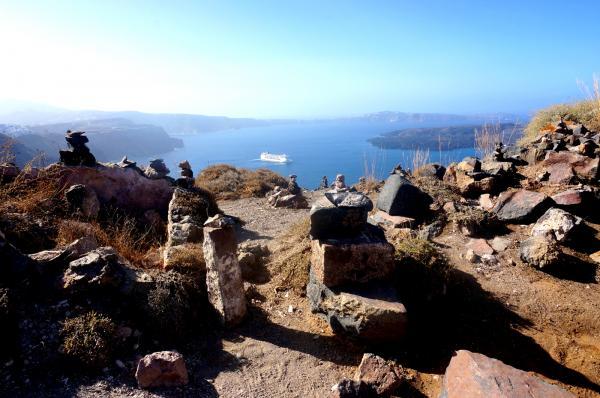 在caldera頂端往外看也很美