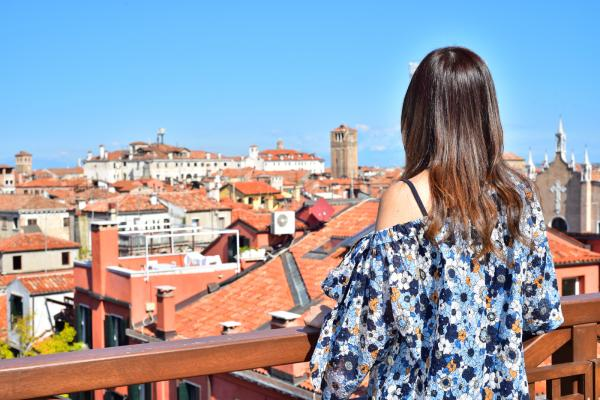 從這裏可看到威尼斯另一面的風景