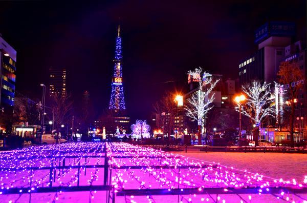 晚上到『大通公園』看聖誕燈飾