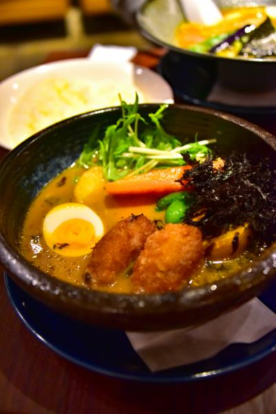另外還吃了北海道著名的湯咖喱