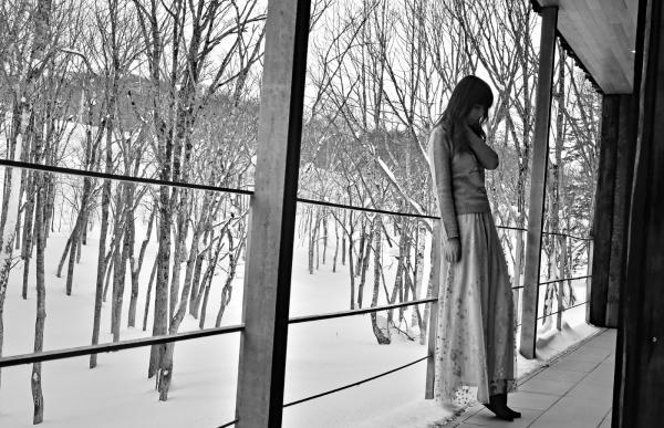 最後是幾張黑白照-《白樺林》